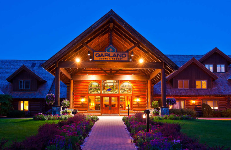 Exterior view of Garland Lodge and Resort.