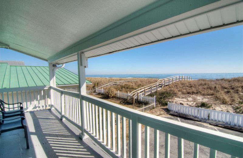 Beach view at Surfside Lodge Oceanfront.