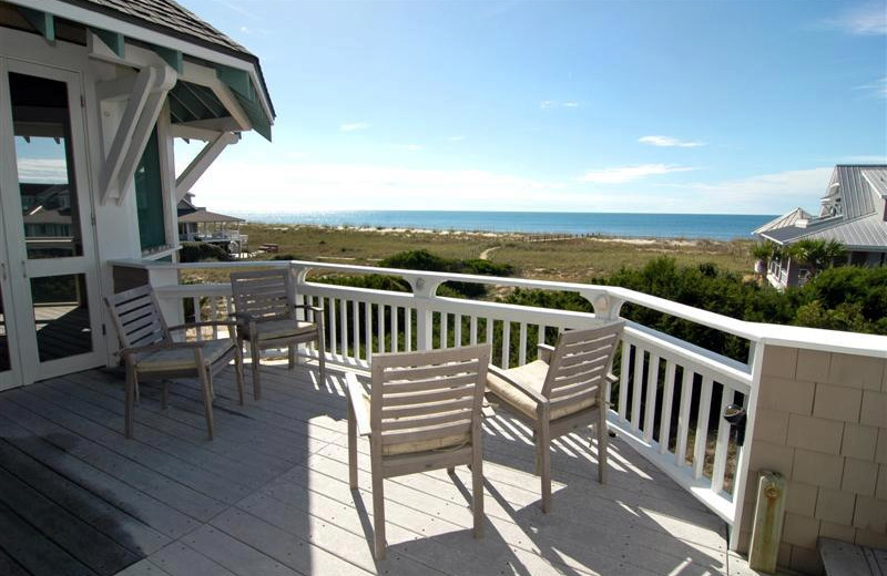 Beachside rental at Bald Head Island.