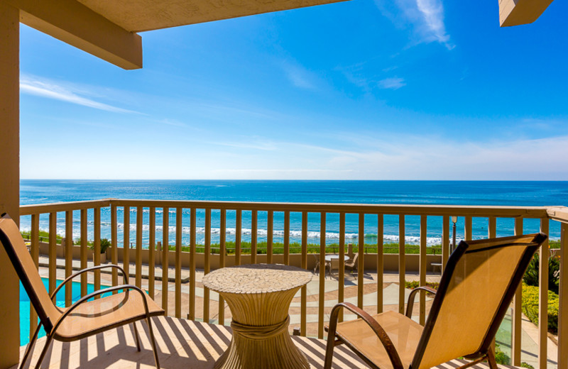 Vacation rental balcony view at Seabreeze Vacation Rentals, LLC.