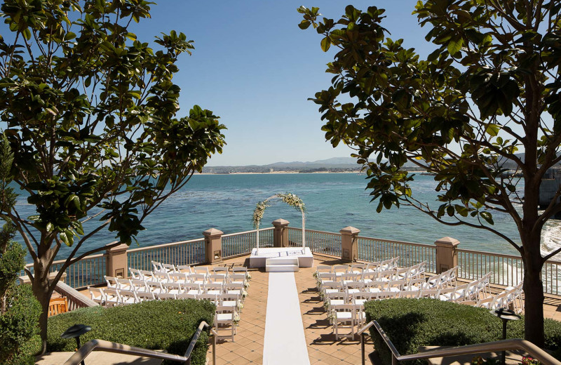 An enchanting wedding set on our Lower Terrace...