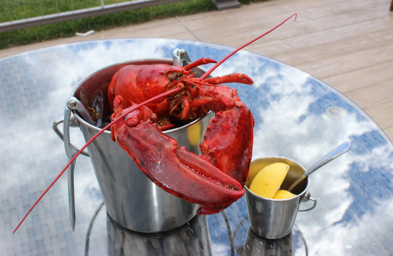 Lobster at Waters Edge Resort and Spa.