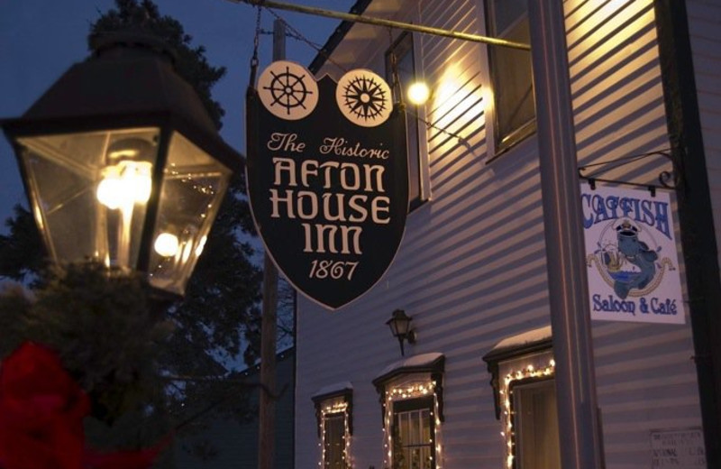 Historic Afton House Inn sign.