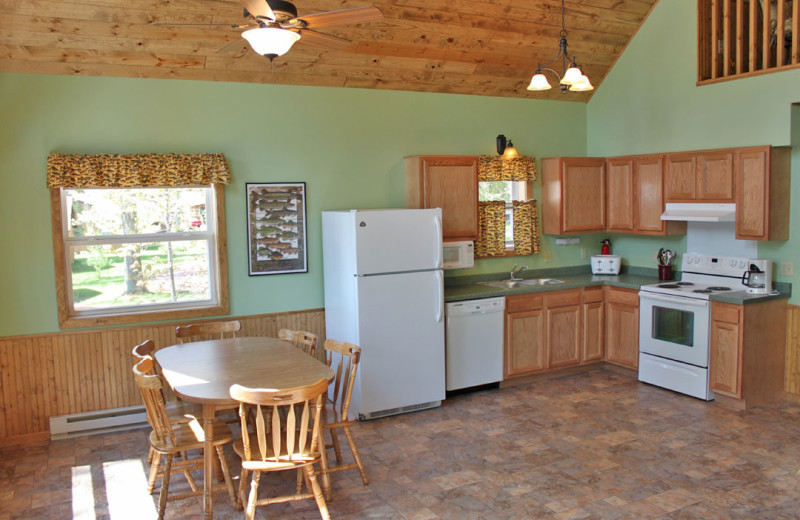 Kitchen View at Janetski's Big Chetac Resort