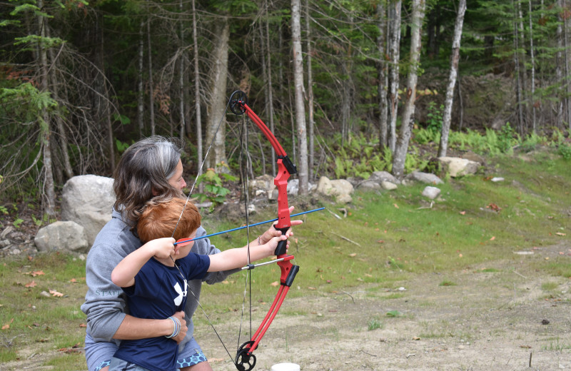 Archery at Quimby Country Lodge & Cottages.
