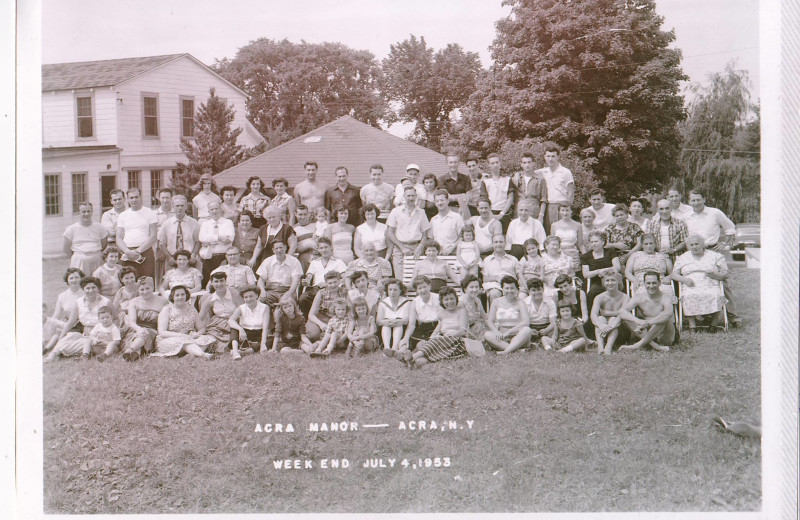 Historic photo of Acra Manor Resort.
