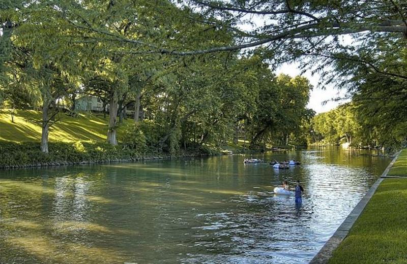 Fishing near River Road Treehouses.