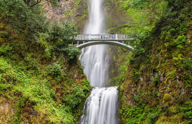 Waterfall near Carson Hot Springs Spa and Golf Resort.