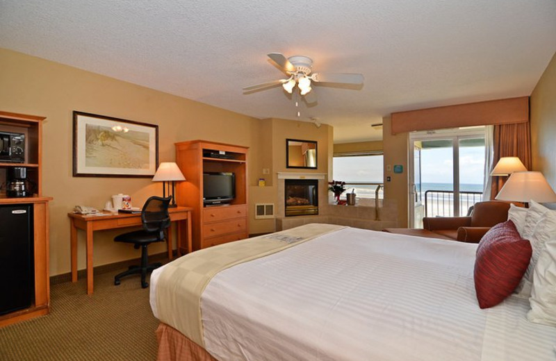 Guest room at Ocean View Resort.