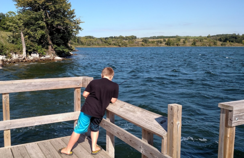 Fishing at Delagoon Park and Recreation Area.