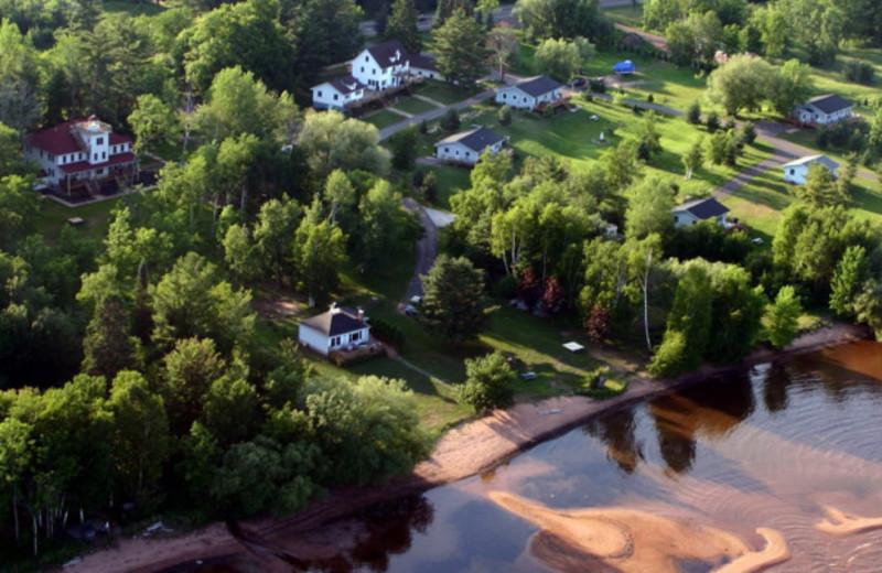 Aerial view of Superior Rentals.