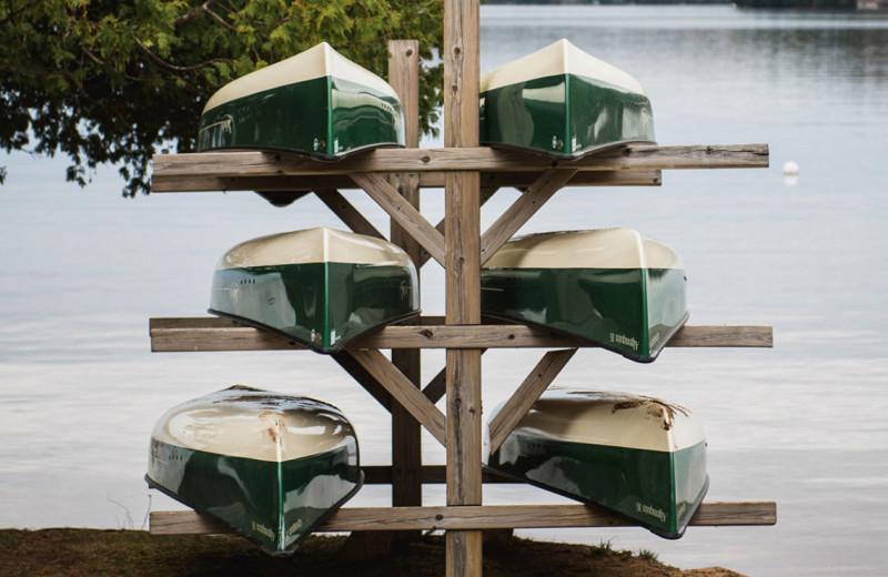 Canoes at Port Cunnington Lodge & Resort.