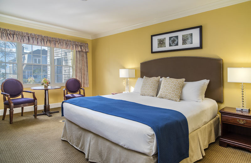Guest room at Waters Edge Resort and Spa.