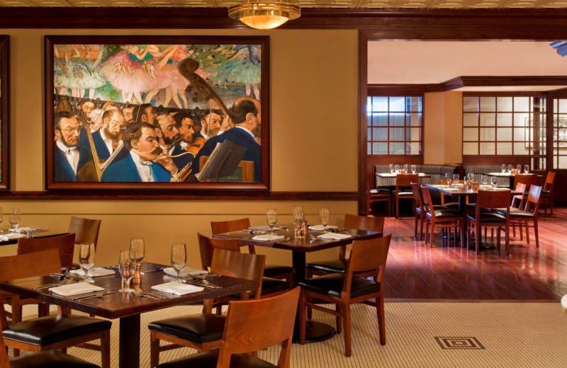 Dining at The Westin Crown Center, Kansas City.