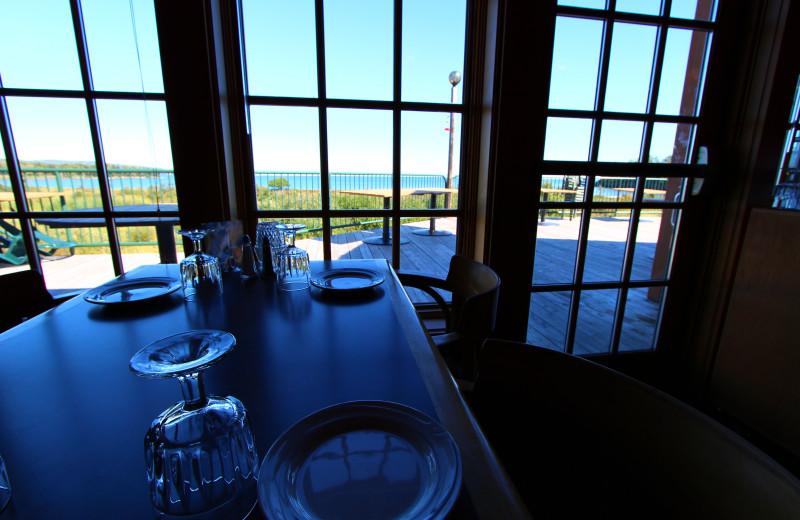 Dining view at Superior Shores Resort.