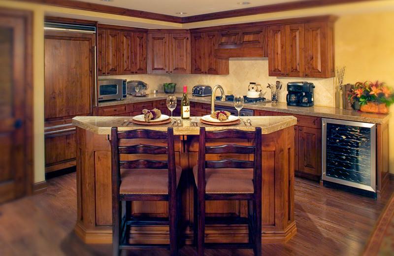 Vacation rental kitchen at Frias Properties of Aspen - Hyatt Grand Aspen.
