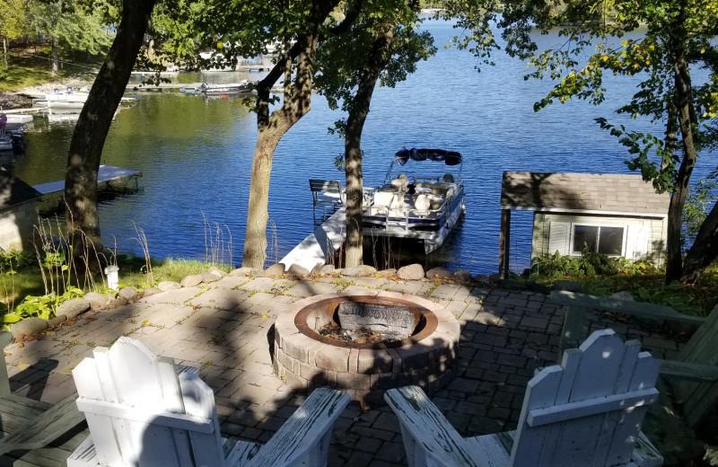 Cabin patio at Riverside Resort.