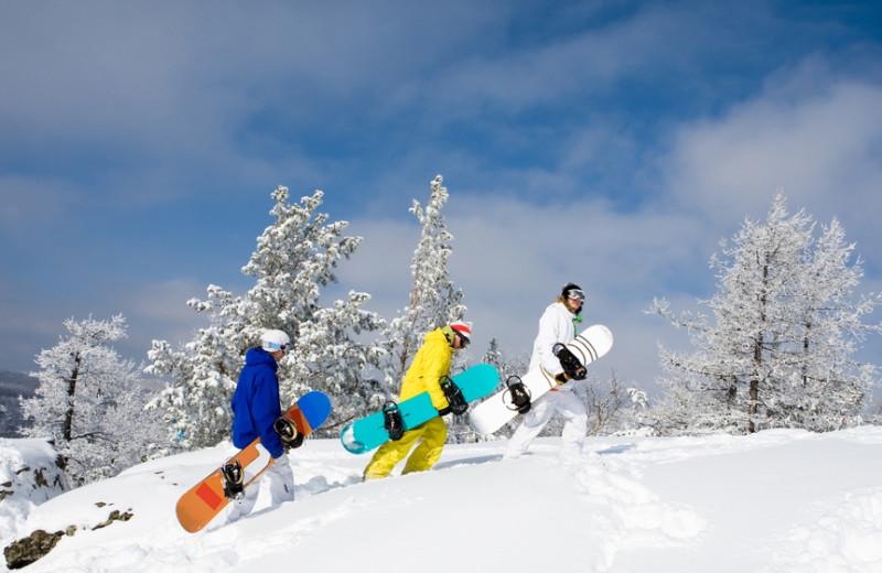 Skiing near Carolina Mornings.