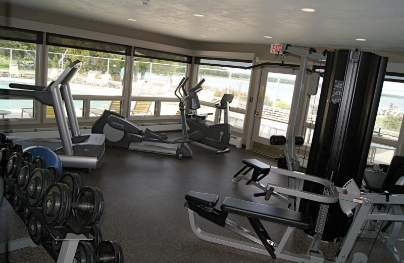 Gym at Gordon Lodge.