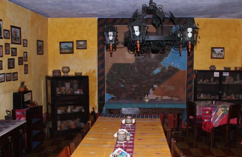 Dining at Posada Belen Hotel Museum.