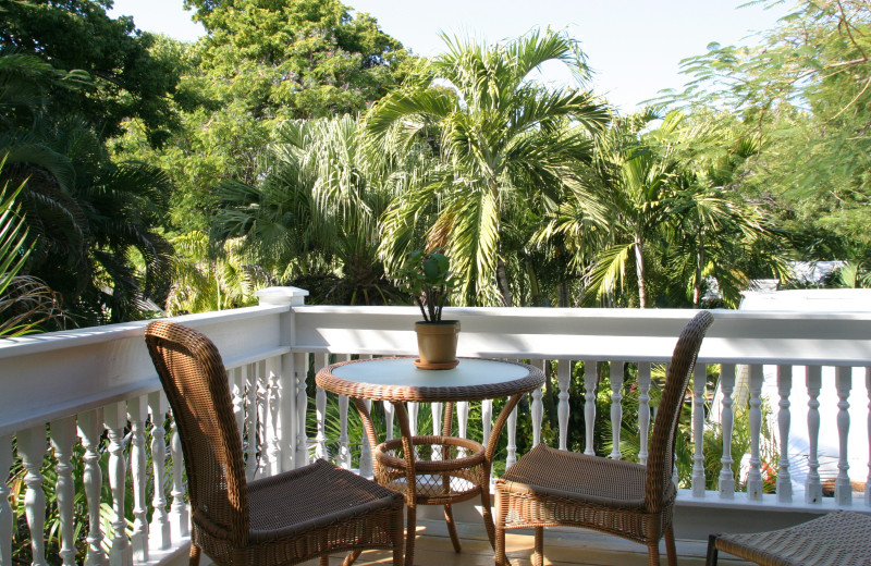 Guest balcony at Mermaid & Alligator Key West.