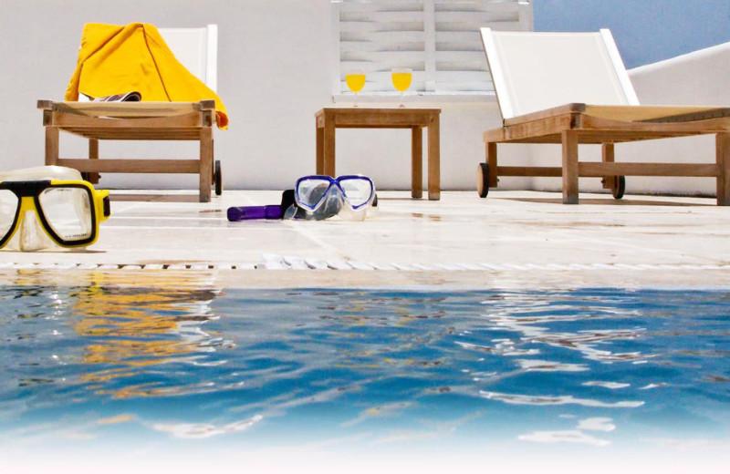 Swimming at Coral Beach Club.