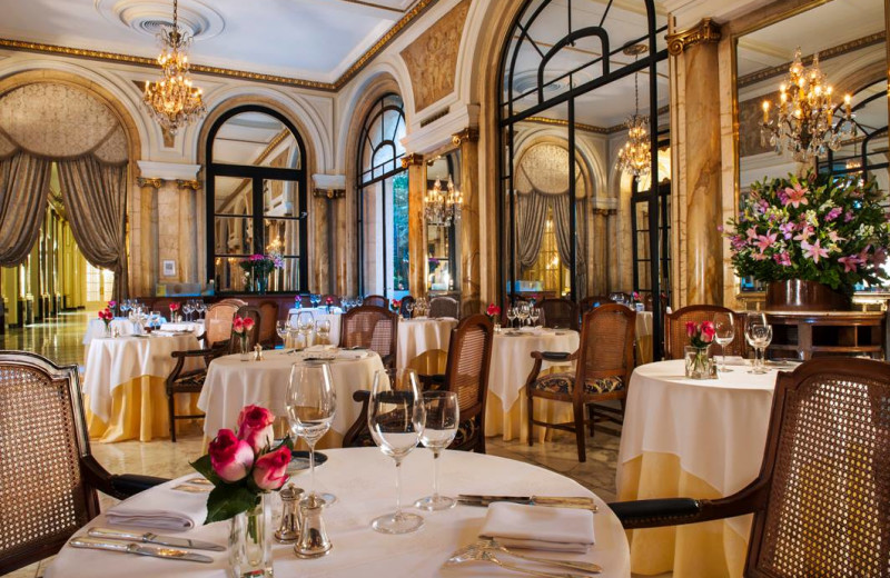 Dining at Alvear Palace Hotel.