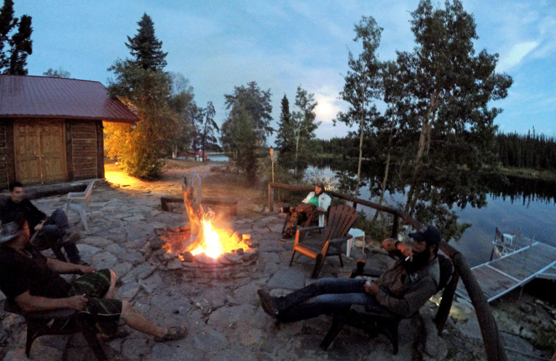 Bonfire at Arctic Lodges.