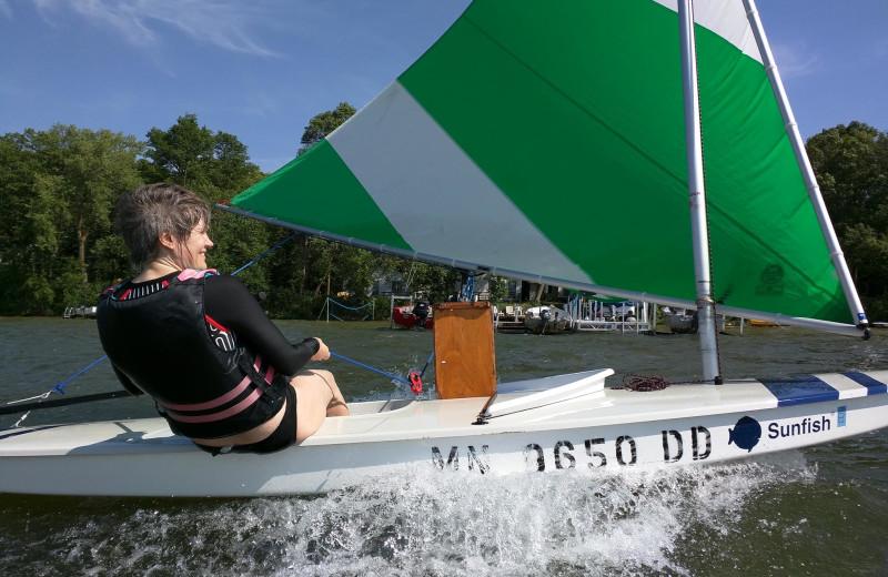 Sailing at Woodlawn Resort.