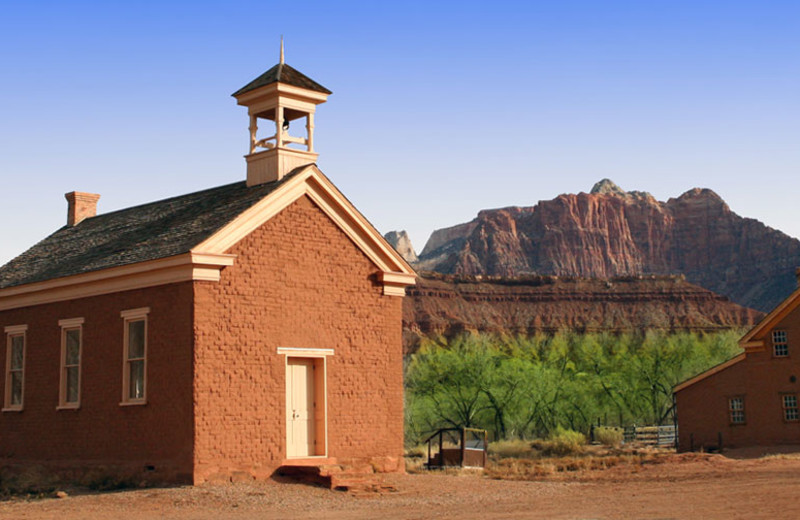 The ghost town of Grafton near Zion Ponderosa Ranch.