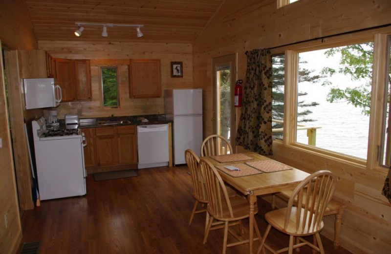Cabin kitchen at Solbakken Resort.