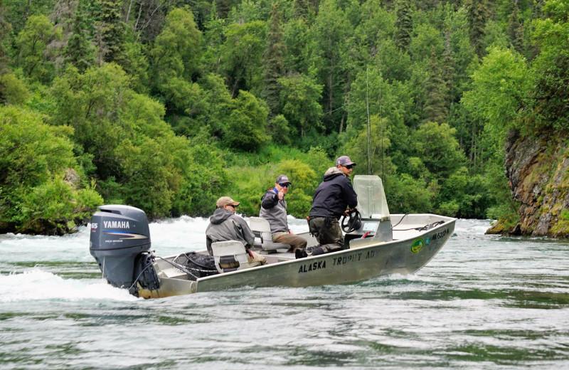 Boating at Alaska Trophy Adventures Lodge.