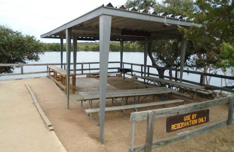Pavilion at Inks Lake State Park.