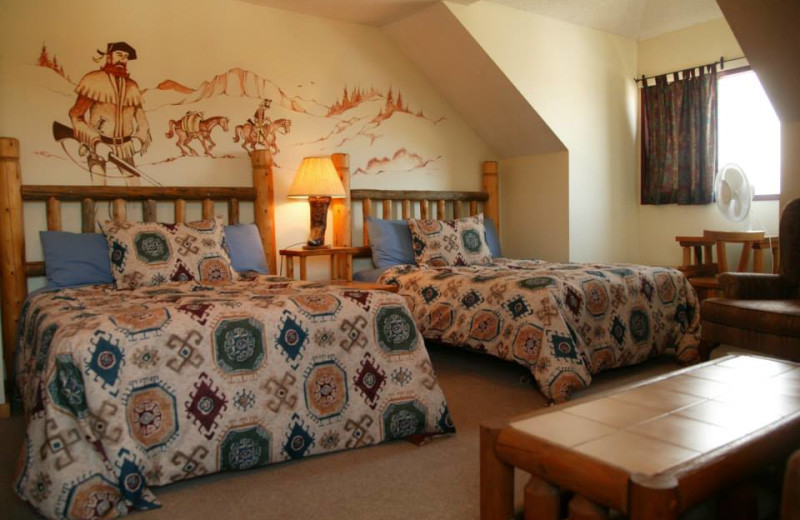 Guest room at Rafter Six Ranch Resort.