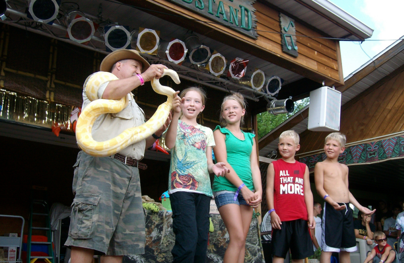Snakes Alive show at Yogi Bear's Jellystone Park Warrens.