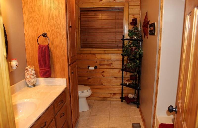 Guest bathroom at Saddleback Lodge.