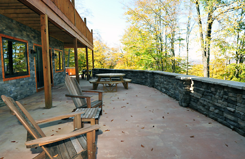 Vacation rental porch at Timberline Mountain-Access Properties.