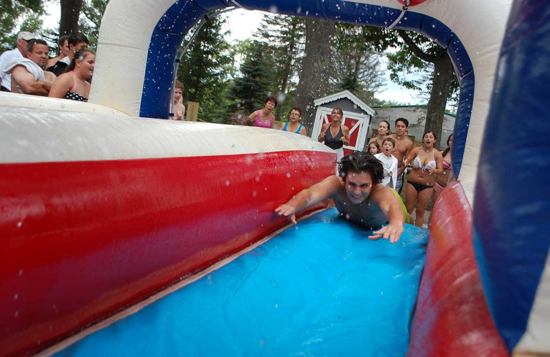 Water slide at Woodloch Resort.