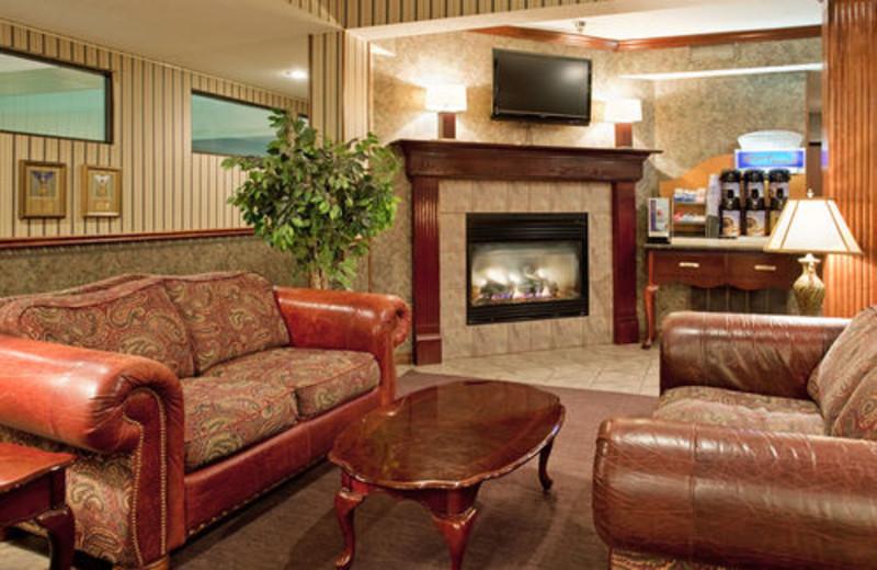 Lobby at Holiday Inn Express Osage Beach.