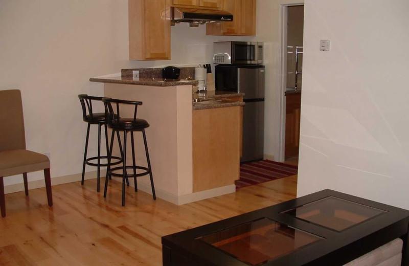 Kitchen view at Pelican Point Inn.