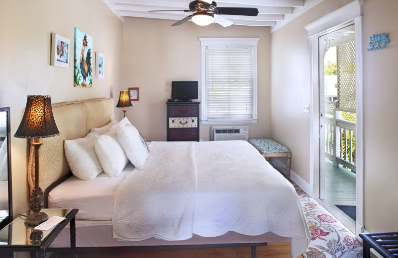 Guest room at Coco Plum Inn.