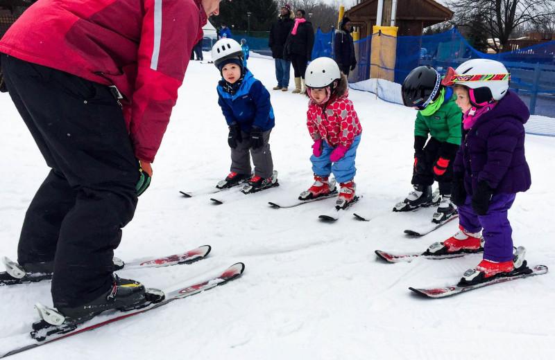 Skiing at Rocking Horse Ranch Resort.