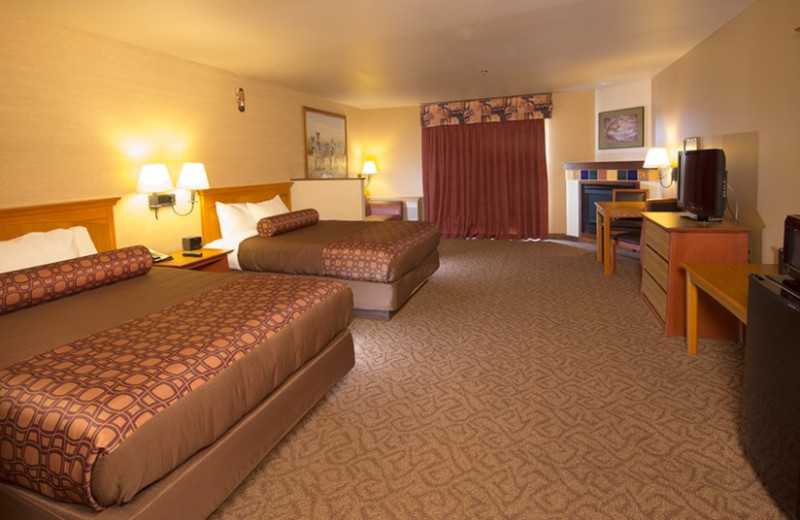 Two bed guest room at Kalahari Waterpark Resort Convention Center.