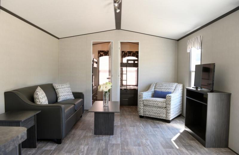 Cottage interior at Great Blue Resorts- Cherry Beach Resort.