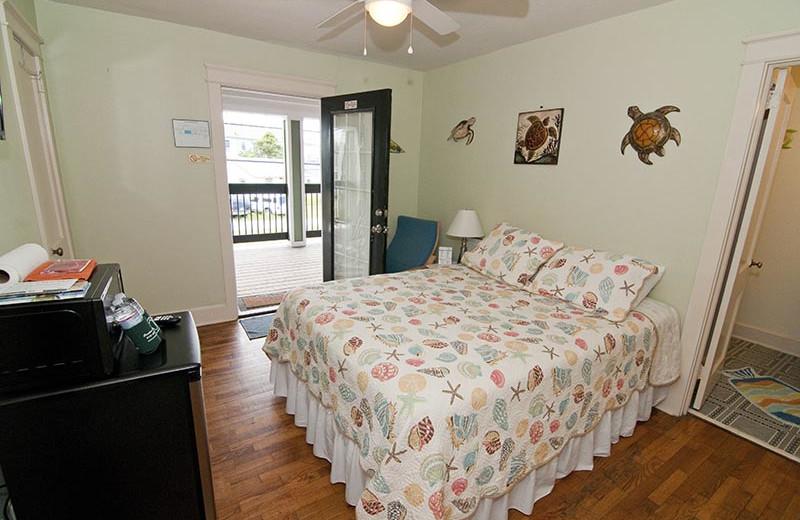 Guest room at Carolina Beach Inn.