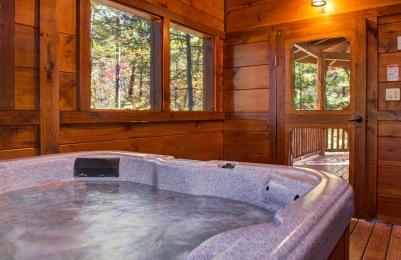 Rental hot tub at Vacasa Gatlinburg.