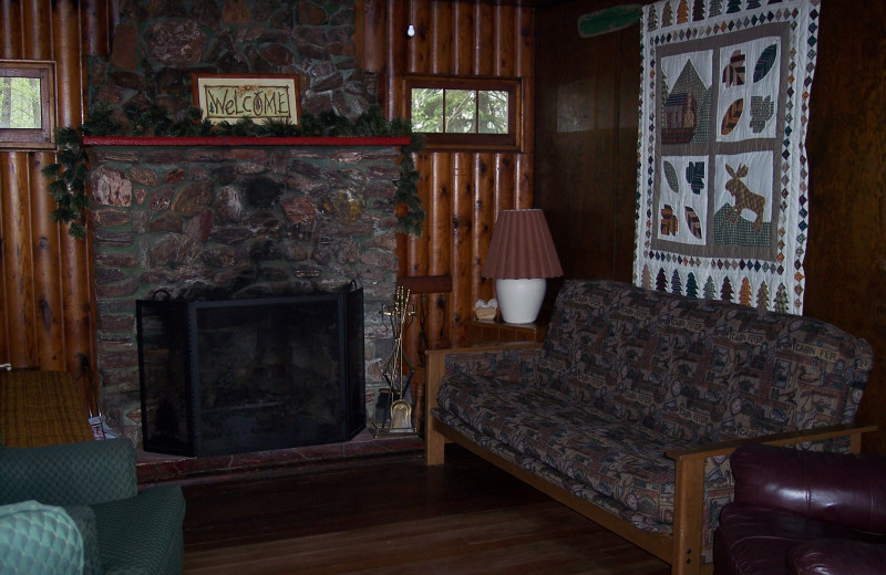 Cabin interior at Niemeyer's Rugged River Resort.