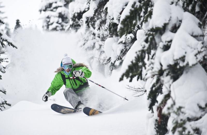 Skiing at  Oxen Yoke Inn