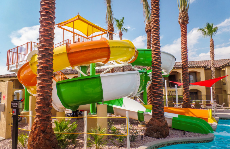 Water slides at Holiday Inn Club Vacations Scottsdale Resort.