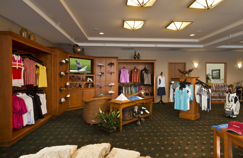 Gift shop at Eaglewood Resort & Spa.